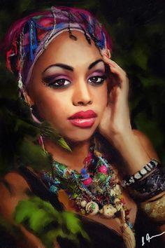 Black Women Art!  #African American art, , Black Art, Art - Females Women Girls, Artwork