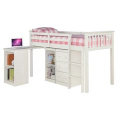 Milo Sleep Station Mid Sleeper from LPD Furniture. Mid Sleeper, Wooden Bunk Beds, Childrens Beds, Bed Frame, Kids Bedroom, New Homes, House, Free Delivery, Furniture