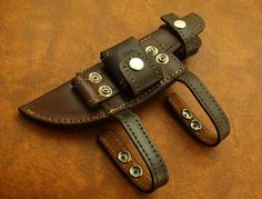 horizontal knife sheath in leather. - Rgrips.com