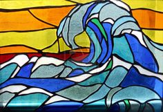 Wave stained glass by *MJLong on deviantART