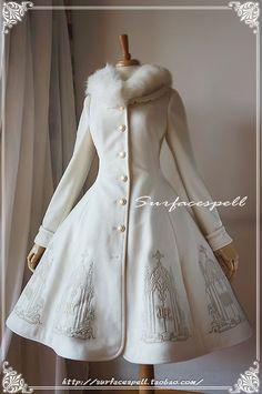 I feel like this coat would be a Russian Brand. I'm probably wrong. But, I can s… I feel like this coat would be a Russian Brand. I'm probably wrong. But, I can see a Russian woman wearing this. Pretty Outfits, Pretty Dresses, Beautiful Outfits, Kawaii Fashion, Cute Fashion, Trendy Fashion, Korean Fashion, Old Fashion Dresses, Fashion Outfits
