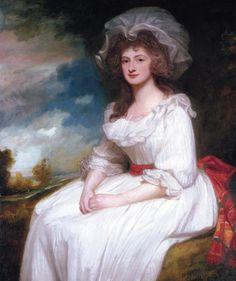 The Athenaeum - Portrait of Anne Rodbard, Mrs. Blackburn (George Romney - ) 1787