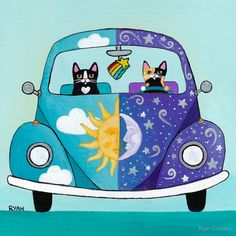 Sunny & Luna Go For A Drive by Ryan Conners