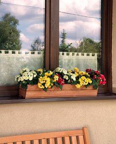 Donica drewniana na balkon, taras, kwietnik RD-2-94