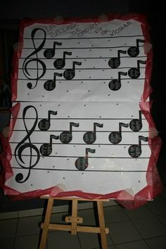 plan de table note musicales