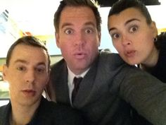 three of my favourite people from NCIS, Michael Weatherly, Cote de Pablo  Sean Murray tweeted by Michael Weatherly  twitter.com/@M_Weatherly  #NCIS  #tv