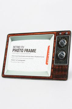 The Retro TV Photo Frame in Dark Brown by Kikkerland - Get this (and anything else!) at Karmaloop.com for 20% off using RepCode: KKpearl6