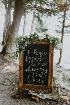 This Muskoka wedding features a super scenic waterfront ceremony, modern rustic camp-inspired reception décor, and a timelessly classic bridal style.