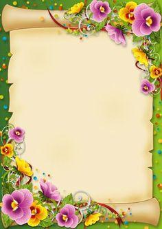 .flores e pergaminho