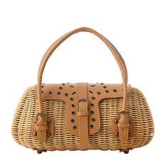 Fashion Eco-friendly Rivet Rattan Handbag NT0160