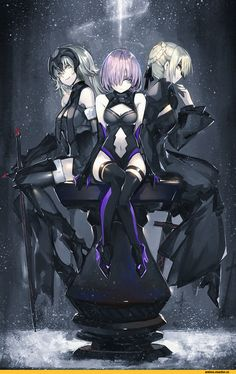 Shielder (Fate/grand order),Fate/Grand order,Fate (series),Fate (srs),Anime,Аниме,Saber Alter,Jeanne Alter,SaberIII,Anime Art,Аниме арт, Аниме-арт