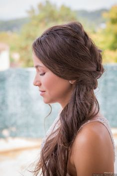 75 wedding hairstyles to discover before D-Day Long Hair Wedding Styles, Wedding Hairstyles For Long Hair, Long Hair Styles, Natural Hair Bun Styles, Veil Hairstyles, Bridal Hairstyles, Hairstyle Ideas, Beautiful Buns, Beauty Glazed