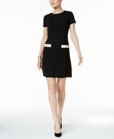 TOMMY HILFIGER Tommy Hilfiger Faux-Pocket Shift Dress. #tommyhilfiger #cloth # dresses