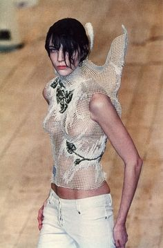cotonblanc: Alexander McQueen, No. 13, Spring–Summer 1999 Fashion at the Edge: Spectacle, Modernity and Deathliness by Caroline Evans, Yale University Press