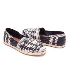 d8f74cb1b07 TOMS Black & White Woven Huarache Classics - Women. Minimalist ShoesVegan  ...
