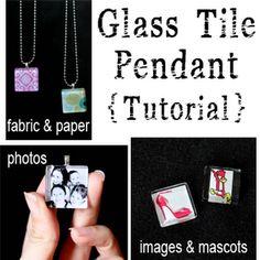 Sugar Bee Crafts: Glass tile photo pendant