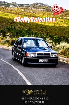 Meet Gina, she loves the thrill of competition but still prefers traveling to far off places. Gina is a born winner...  1985 Mercedes 2.3-16 190E Cosworth  #BeMyValentine #ClassicCars #VintageCars #Mercedes #ValentinesDay