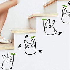 New Nest - Totoro vinyl wall decals, kids wall stickers home decor, Japanese cartoon animation wall stickers for kids room decor Totoro Nursery, Totoro Bedroom, Trendy Bedroom, Kids Bedroom, Bedroom Decor, Wall Stickers, Wall Decals, Sticker Mural, Wall Vinyl