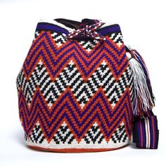 Wayuu Boho Bags with Crochet Patterns - radley bags, black bags for women, leather satchel bag *ad