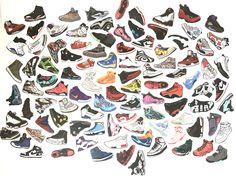 100pcs/Set no repeat notebook bike luggage box AJ shoes tide brand Cartoon Jordan graffiti Jordan waterproof stickers Hot sale #Affiliate