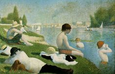 ジョルジュ・スーラ 「アニエールの水浴」 1883-84 ( 1887加筆)   201x301.5cm   ロンドン・ナショナル・ギャラリー