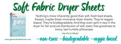 Shaklee Soft Fabric Dryer Sheets go green with Shaklee for earth day - nontoxic cleaners www.gatheredinthekitchen.com