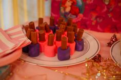 A spa themed birthday party! Lipstick Marshmallow Treats...Perfect for little girls!