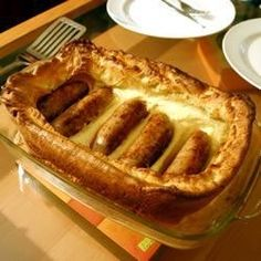 "Toad in the Hole!! Celebrate St. Patrick's Day with some traditional ""Toad in the Hole"".  This centuries-old recipe is perfect for any St. Patrick's Day gathering.  Wash it back with a Guinness or two, and you've got yourself a proper celebration!"
