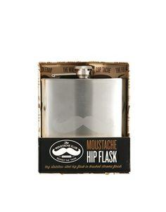 Moustache Hip Flask