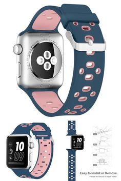 Apple Watch Soft Silicone Replacement Loop Strap Band Buckle for iWatch 42mm #Alritz