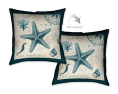 Ocean Life V Decorative Pillow