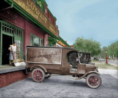 "Shorpy Historical Photo Archive :: Just Wonderful Washington, D.C., circa 1925. ""Ford Motor Co. truck, John H. Wilkins Co."" (Colorized): 1925"