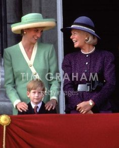 Princess Diana, Prince Harry and Katharine, Duchess of Kent