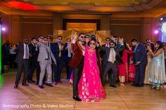 Indian wedding reception party. http://www.maharaniweddings.com/gallery/photo/133006