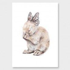 Little Bunny Art Print by Olivia Bezett