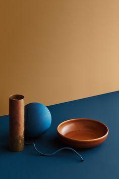 Jotun Lady, Ceramic Tableware, Still Life Photography, Color Theory, Supreme, Yellow, Blue, Design Art, Deco