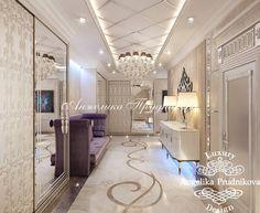 Холл. Фото 2017 - Дизайн квартир Corridor Design, Entrance Design, House Entrance, Bedroom False Ceiling Design, False Ceiling Living Room, Classic Interior, Luxury Interior, Living Room Interior, Living Room Decor