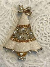 Two Toned Rhinestone Glitter Signed K. Christmas Tree Brooch Pin Z Jewelry Christmas Tree, Jewelry Tree, Vintage Costume Jewelry, Vintage Costumes, Antique Jewelry, Vintage Jewelry, Vintage Brooches, Xmas Tree, Christmas Trees