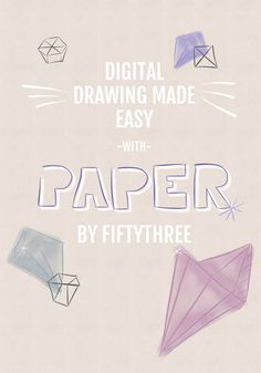 Learn how to draw digitally and create drawings with transparent backgrounds with Paper by FiftyThree app and iPad