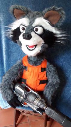 rocket raccoon   by sivart  puppets