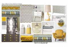 loving yellow & grey combinations right now...
