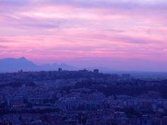 Sunset in Cagliari, Sardinia, Italy
