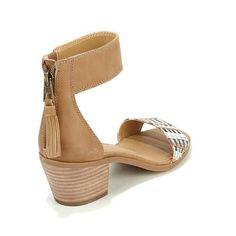 Lucky Brand Batima Leather Block-Heel Sandal - Blknaturalchevron