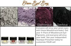 http://www.youniquebytarajeroloman.com 100% natural, chemical-free, mineral-based pigment powders, free of talc, oils, preservatives, perfumes, synthetic dyes, and parabens. $10 for each; $35 for a set of 4; $65 for a set of 8