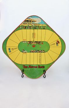Vintage 1920's Tin Litho The Motor Race Game