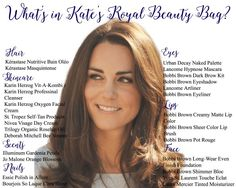 What beauty products does Kate Middleton (the Duchess of Cambridge) use to get her Princess glow? Check out Kate Middleton Beauty Products here.