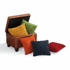 Sculpted Felt Throw Pillow Grandin Road Great colors to go with colorful rug for the home office!