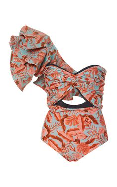 Exclusive Casino One Piece Swimsuit by Johanna Ortiz Swimwear Fashion, Women's Swimwear, One Shoulder Swimsuit, Summer Trends, Resort Wear, Fashion Outfits, Womens Fashion, Passion For Fashion, Beachwear