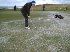 Biggest is golf ball and other snowy iceballs! 2010 Portstewart The Old Course (since 1894)