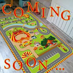 Bientôt sur www.tapitom.com le tapis pour enfant circuit + cirque .... COMING SOON ... !(Octobre 2018)... 130 x 200 cms  #tapisEnfant #Cirque #TapisCircuit #ChambreCirque #Circus #Tapitom Decoration, Kids Rugs, Home Decor, Large Area Rugs, Play Gym, October, Hobby Lobby Bedroom, Decorating, Homemade Home Decor